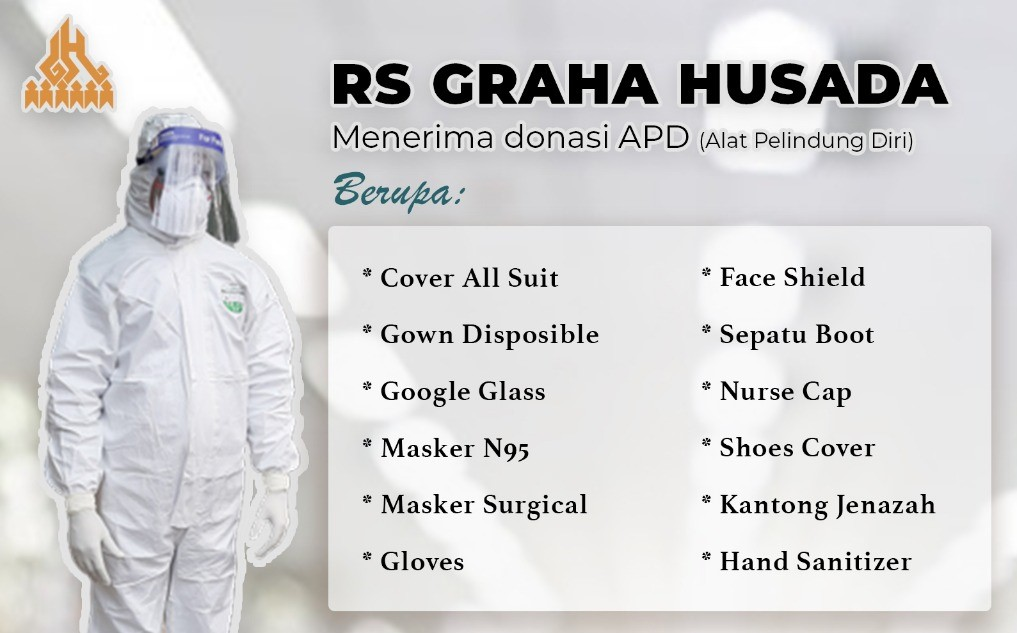 RS Graha Husada Menerima Donasi APD